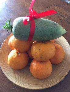 Orange with Green Radish
