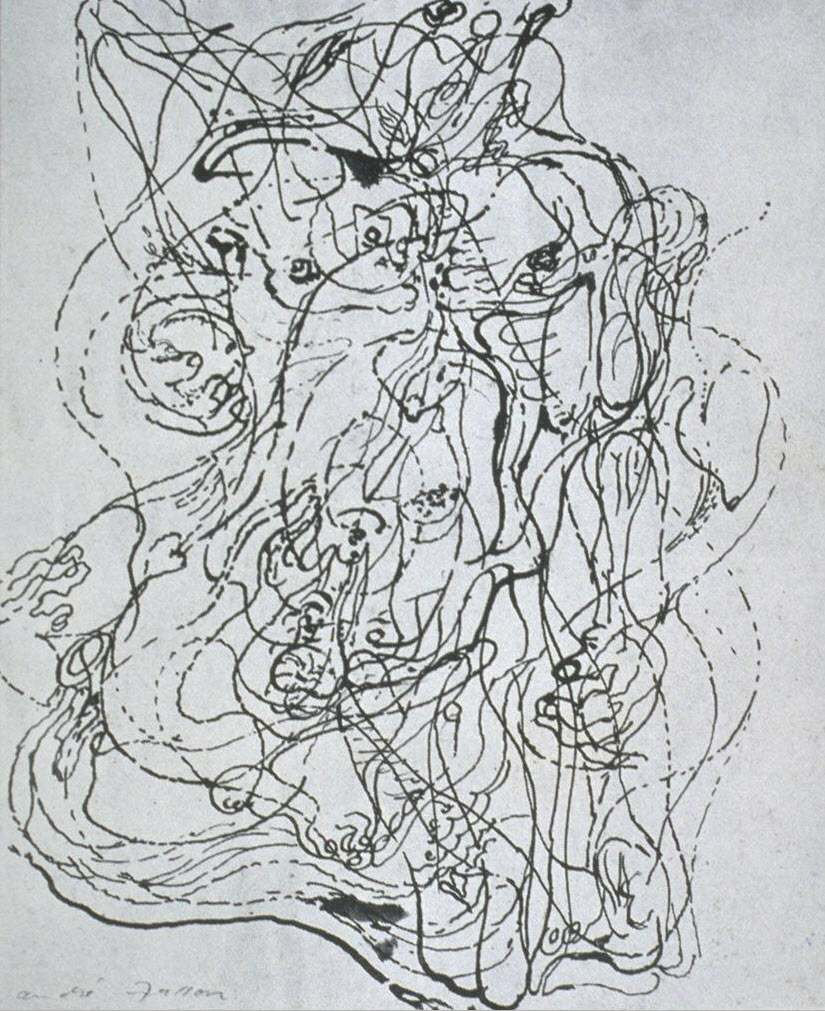 """Automatic Drawing André Masson (French, 1896–1987) 1924. Ink on paper, 9 1/4 x 8 1/8"""" (23.5 x 20.6 cm)"""