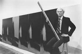 Andy Warhol (1928-1987) in front of the Shadows at the Heiner Friedrich Gallery, New York, 1979 © Arthur Tress © Courtesy Dia Art Foundation, New York, ...