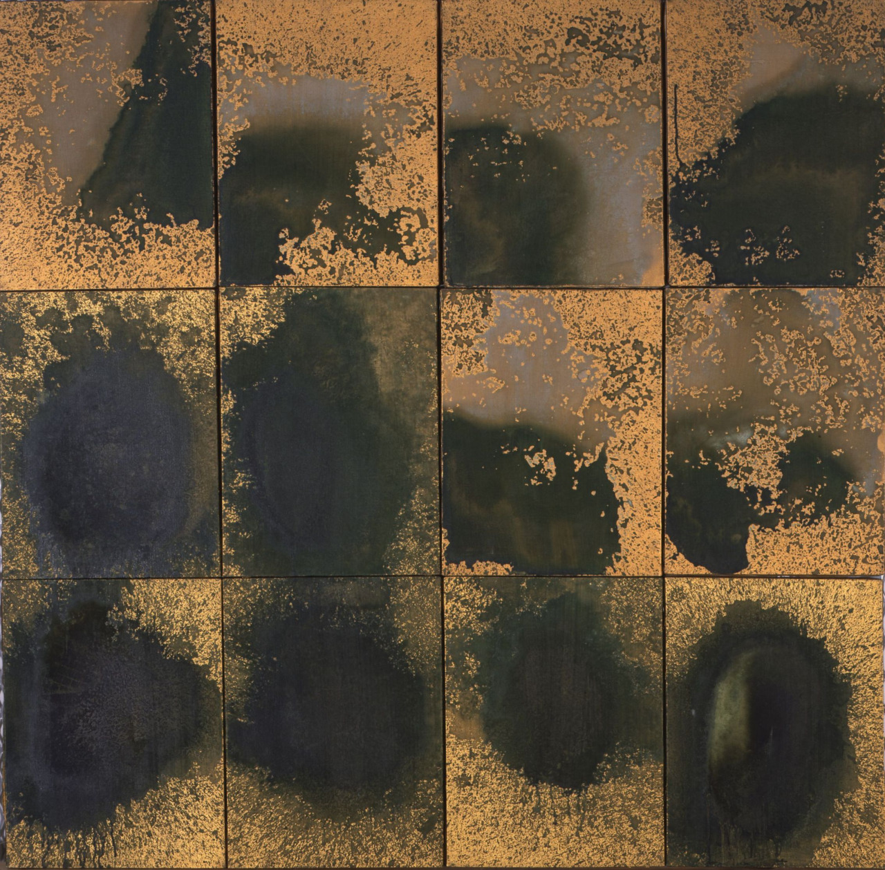 Andy Warhol, Oxidation Painting (in 12 parts), 1978. Acrylic and urine in linen, 48 x 49 in. (121.9 x 124.5 cm) Image courtesy of: © 2010 The Andy Warhol Foundation for the Visual Arts Artists Rights Society (ARS), New York.