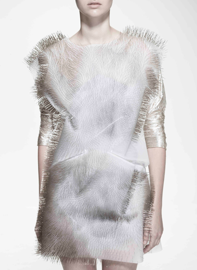 Gaze and sound activated dresses by Ying gao