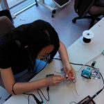 Working with the electronics.