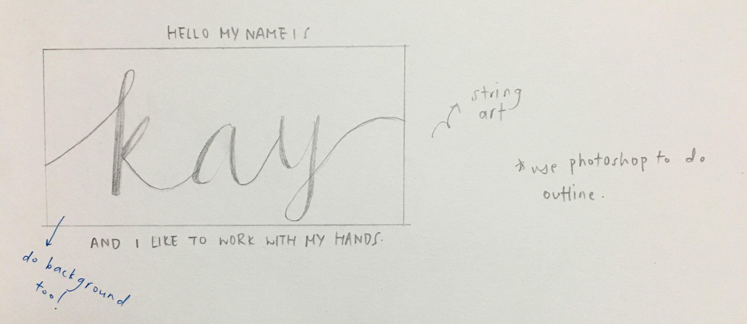 Typographic Portrait: Process I