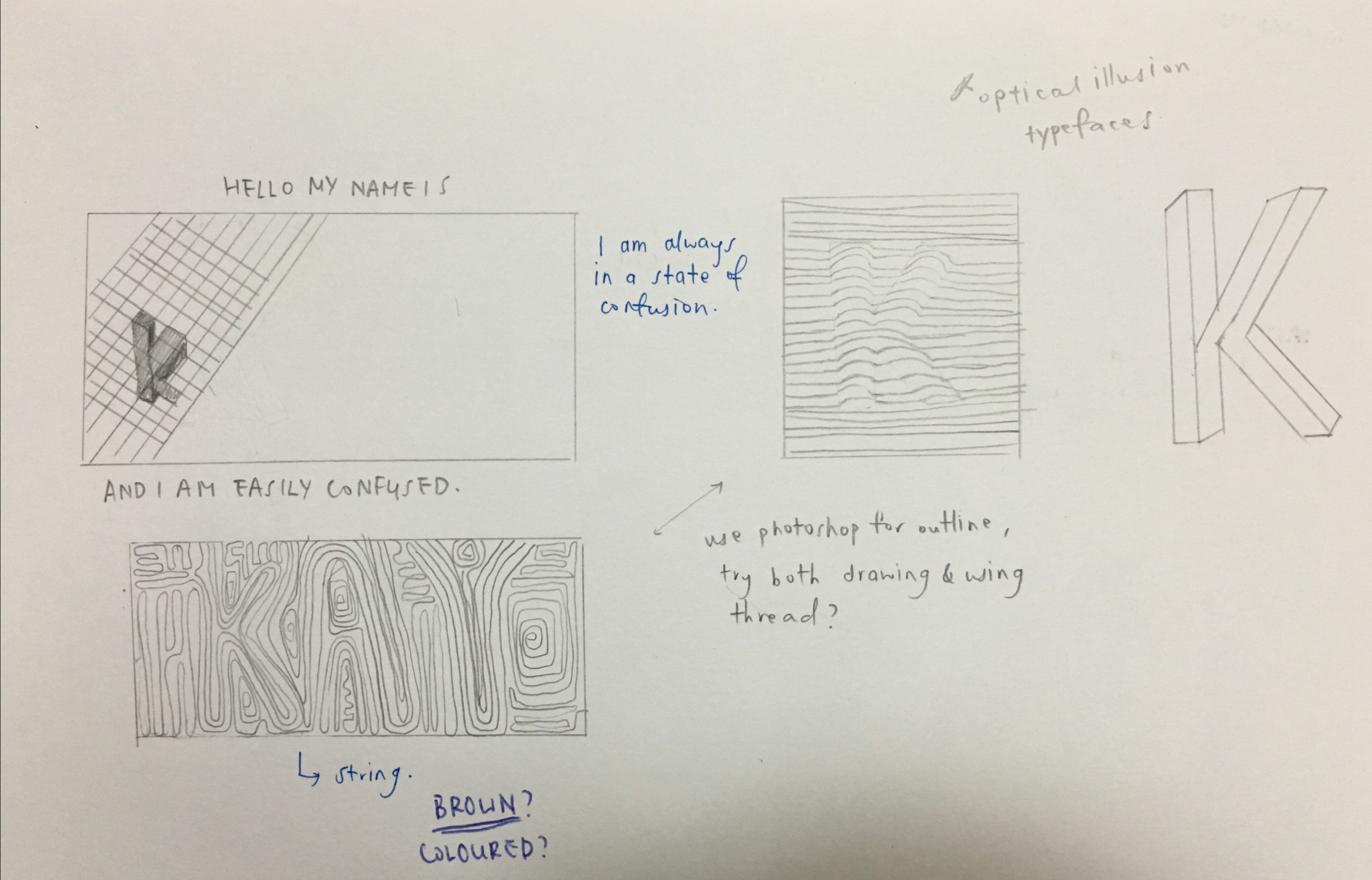 Typographic Portrait: Process II