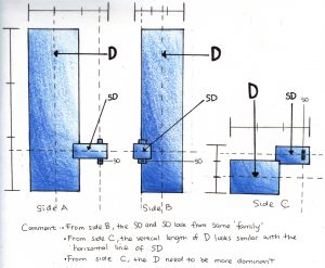 2D Sketch Analysis of Model 1
