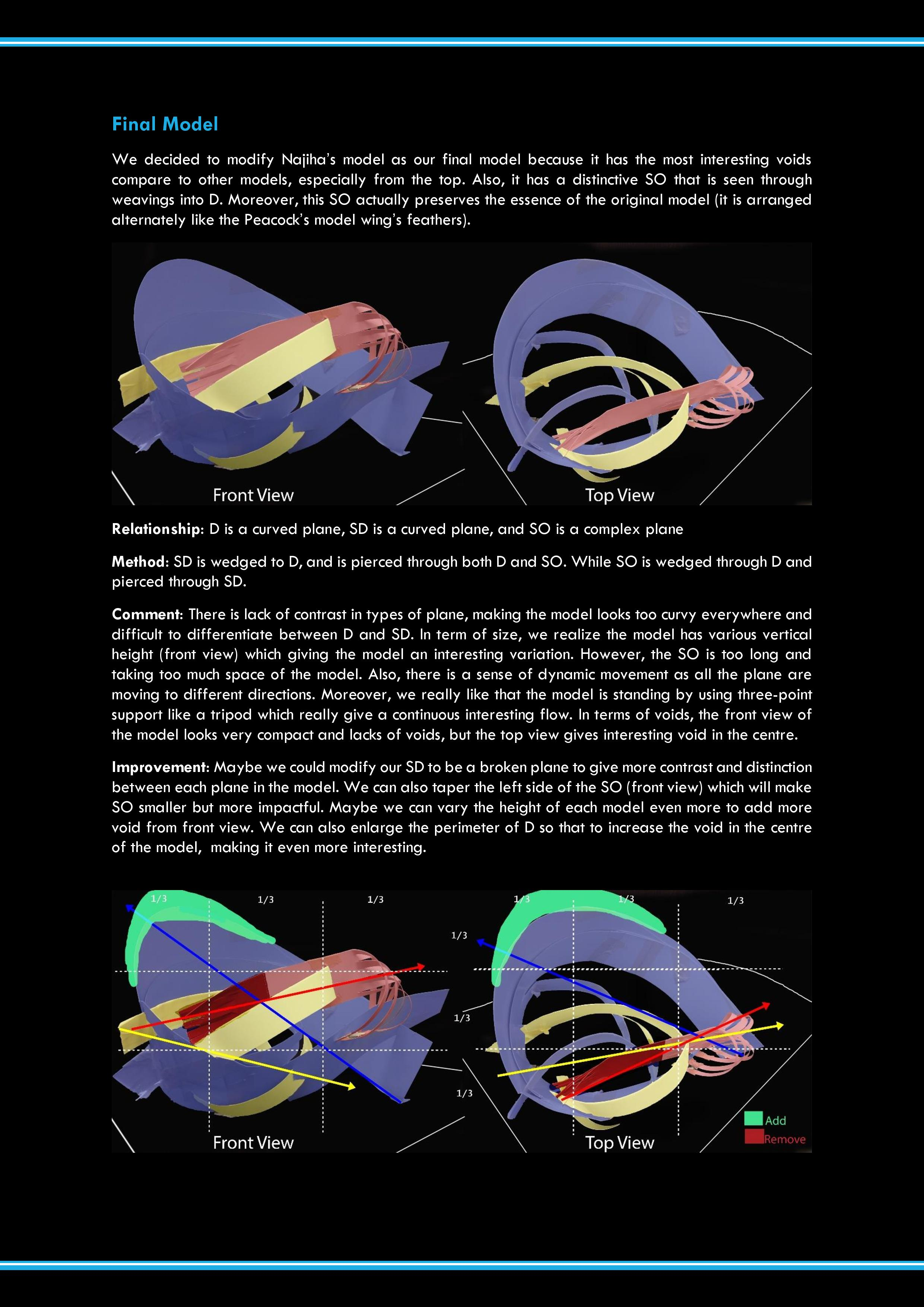 PDF page 3: Final model and analysis