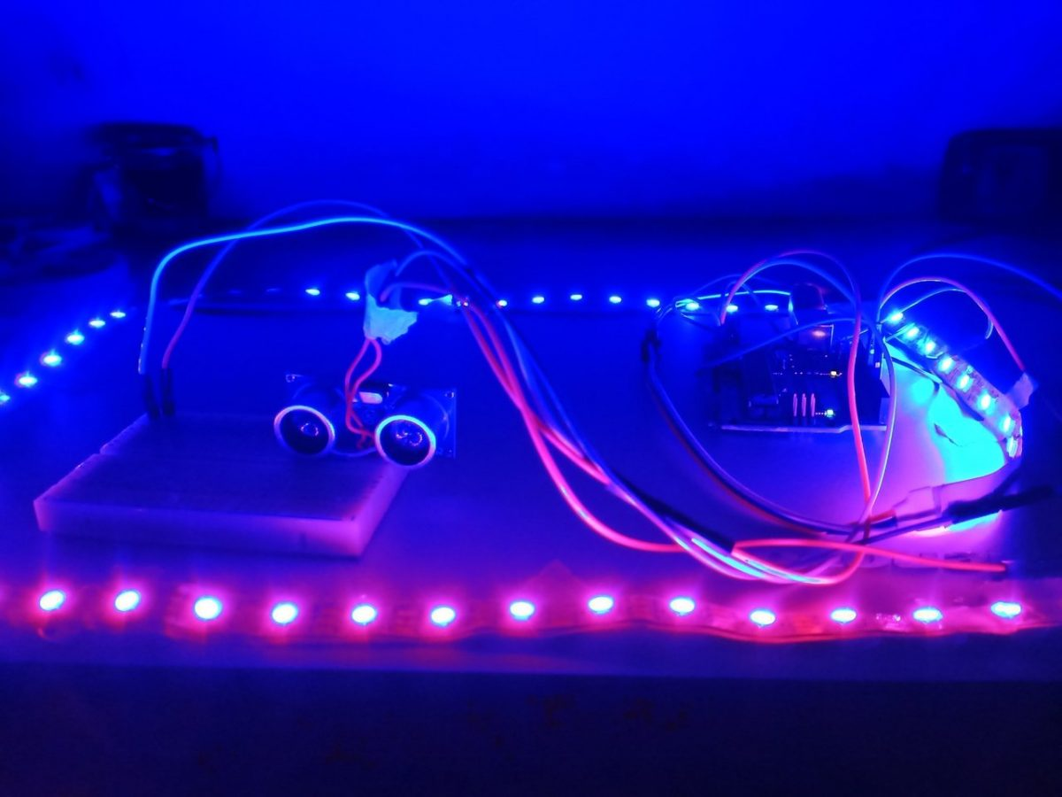 Powering Addressable LED through Sensor