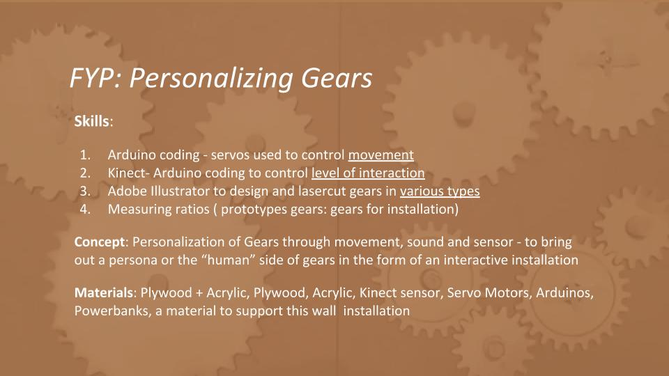 FYP- Personalizing Gears