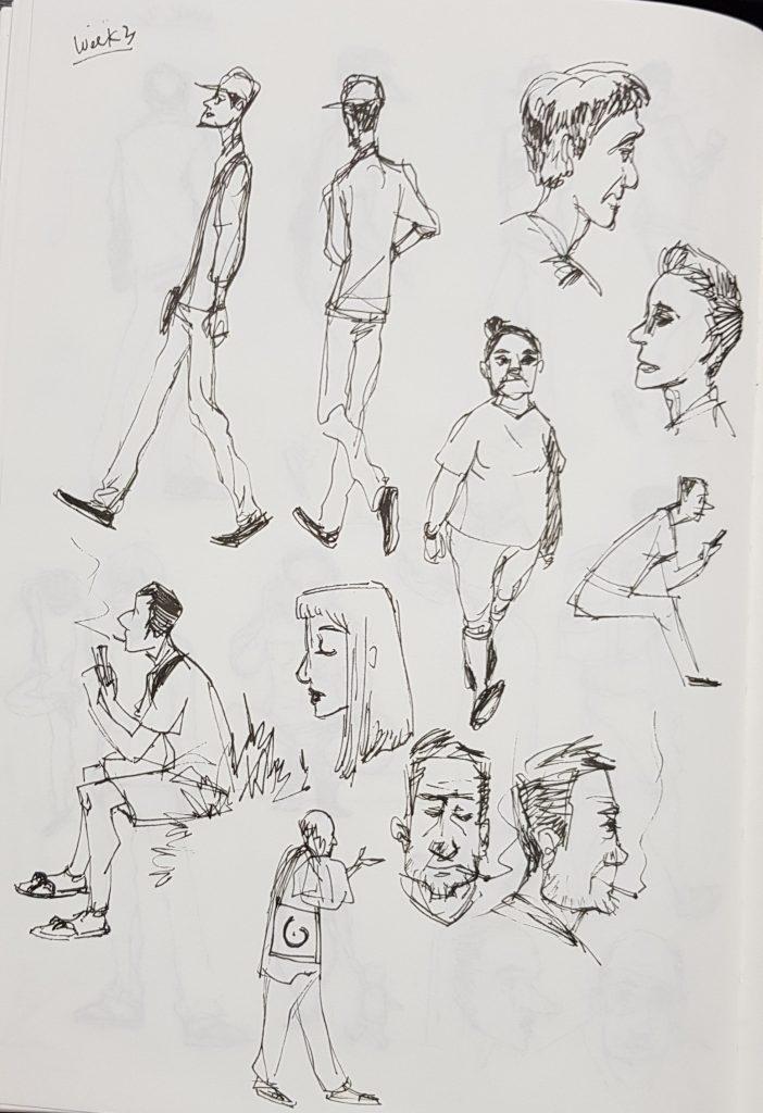 Week 3 Poses Sketch Homework Like The Little Trinkets