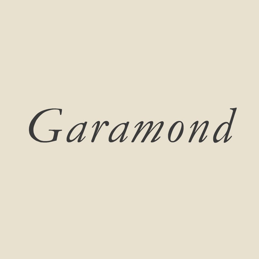 History of Design Reflection: Expanding research on the Garamond Typeface