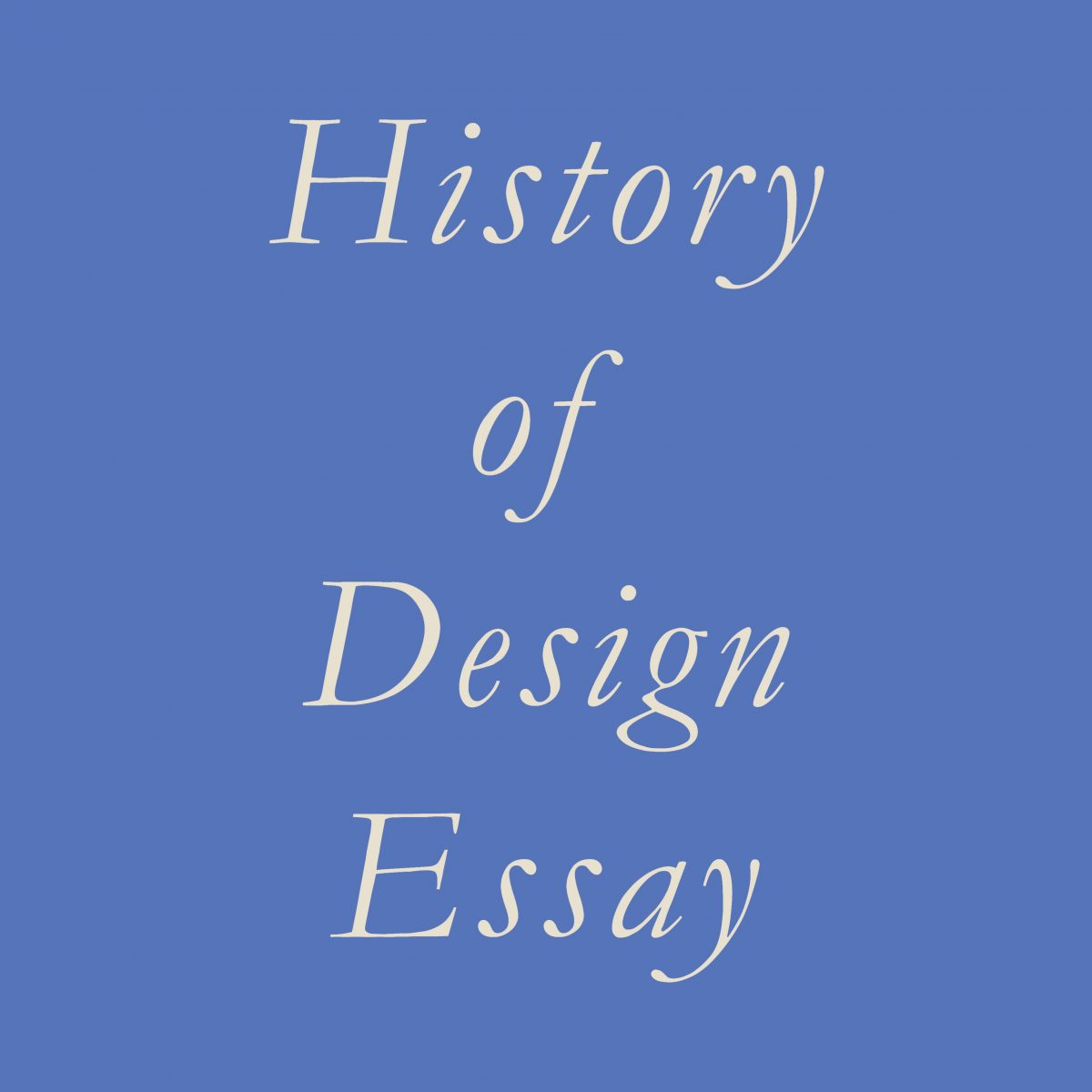 History of Design Essay