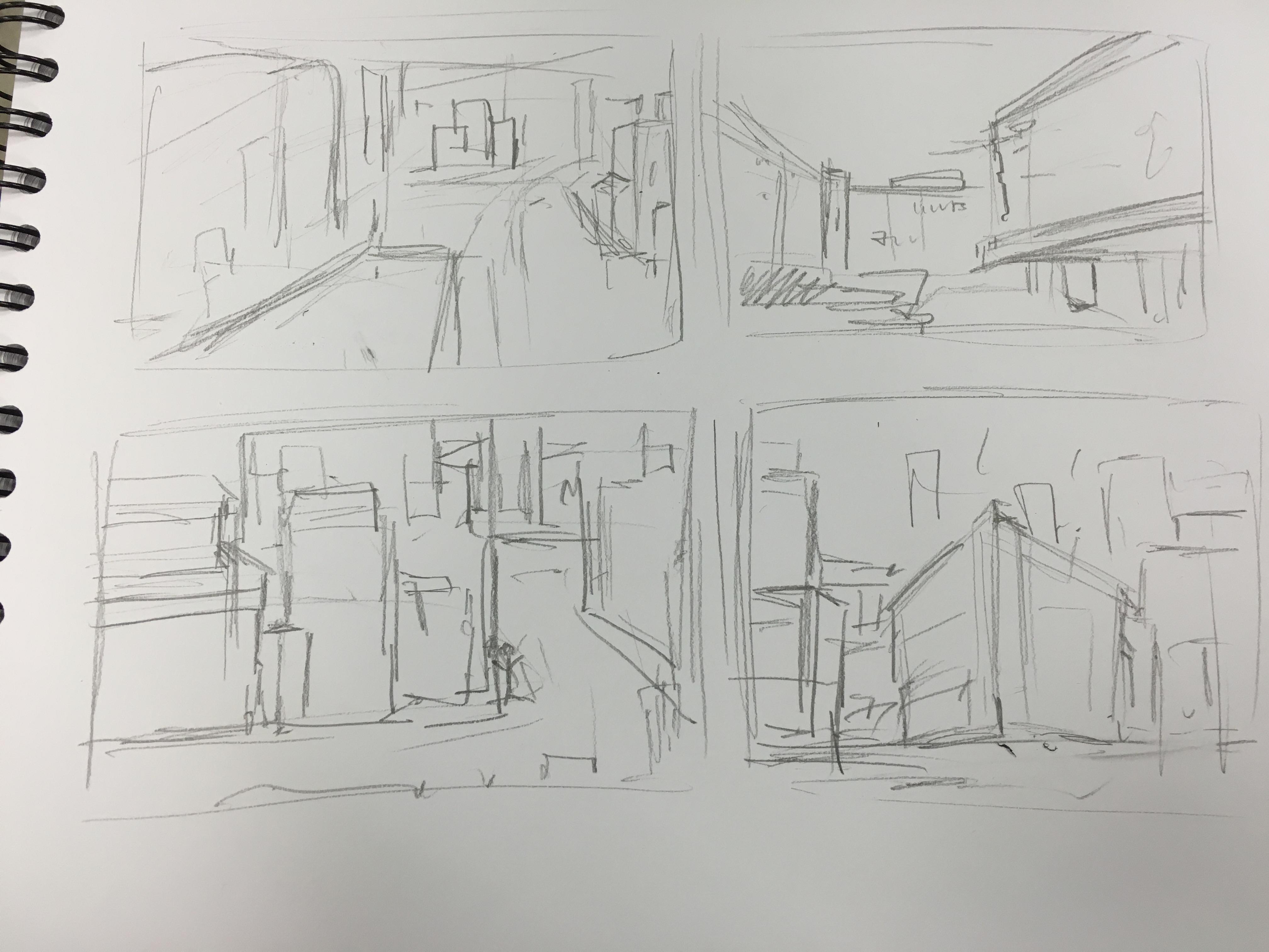 3d Line Drawings : D composition sketches u portfolio site