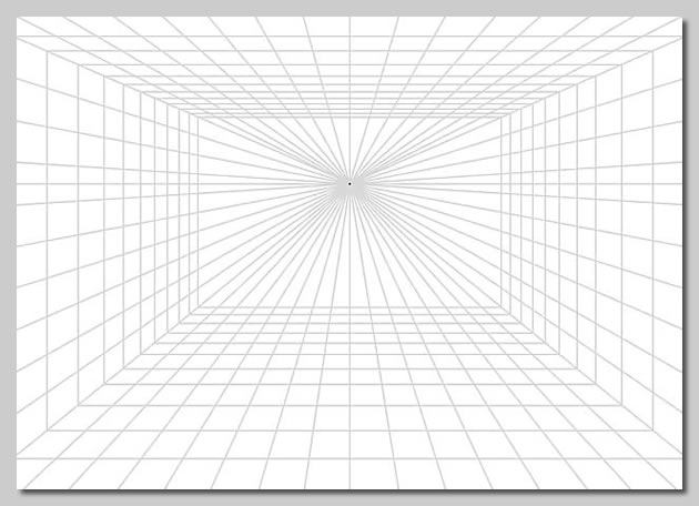 Perspective drawing so sophisticated for Grid room