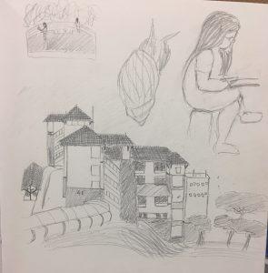 Week 6 In Class Landscape Drawing Art