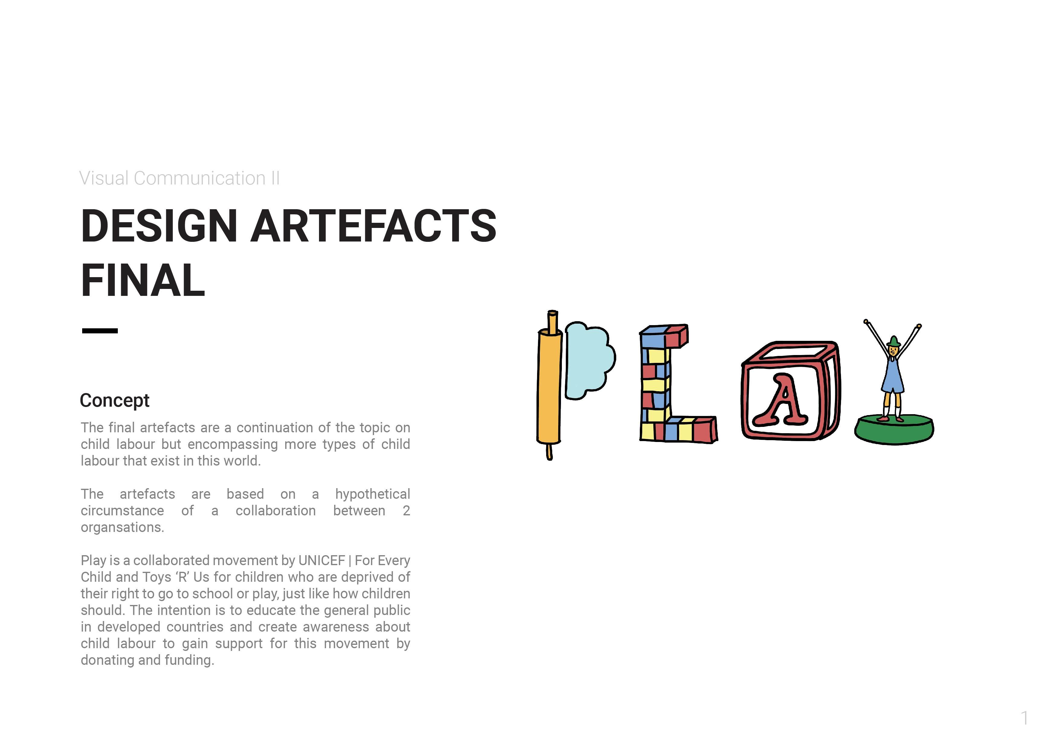 Design Artefacts design artefact 1 final | danielle koh