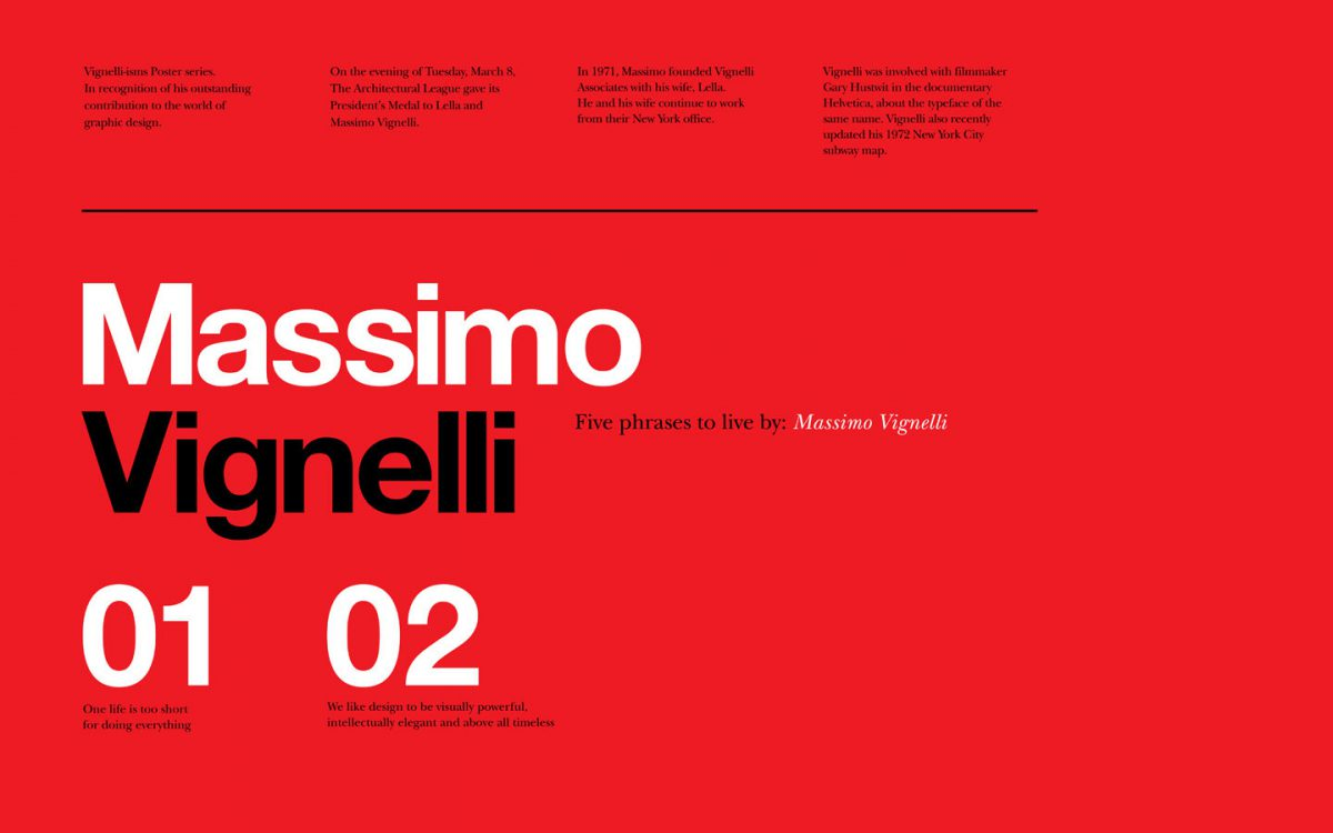 Typographer of the Week: Massimo Vignelli