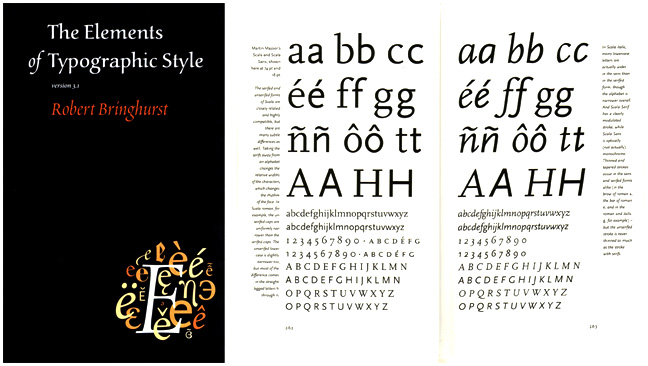 Response to Robert Bringhurst's The Elements of Typographic Style
