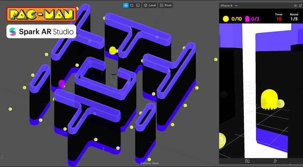 AR PacMan [powered by SparkAR]