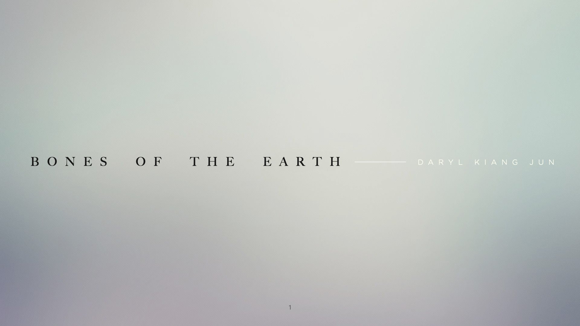 Final Year Project Proposal: Bones of the Earth