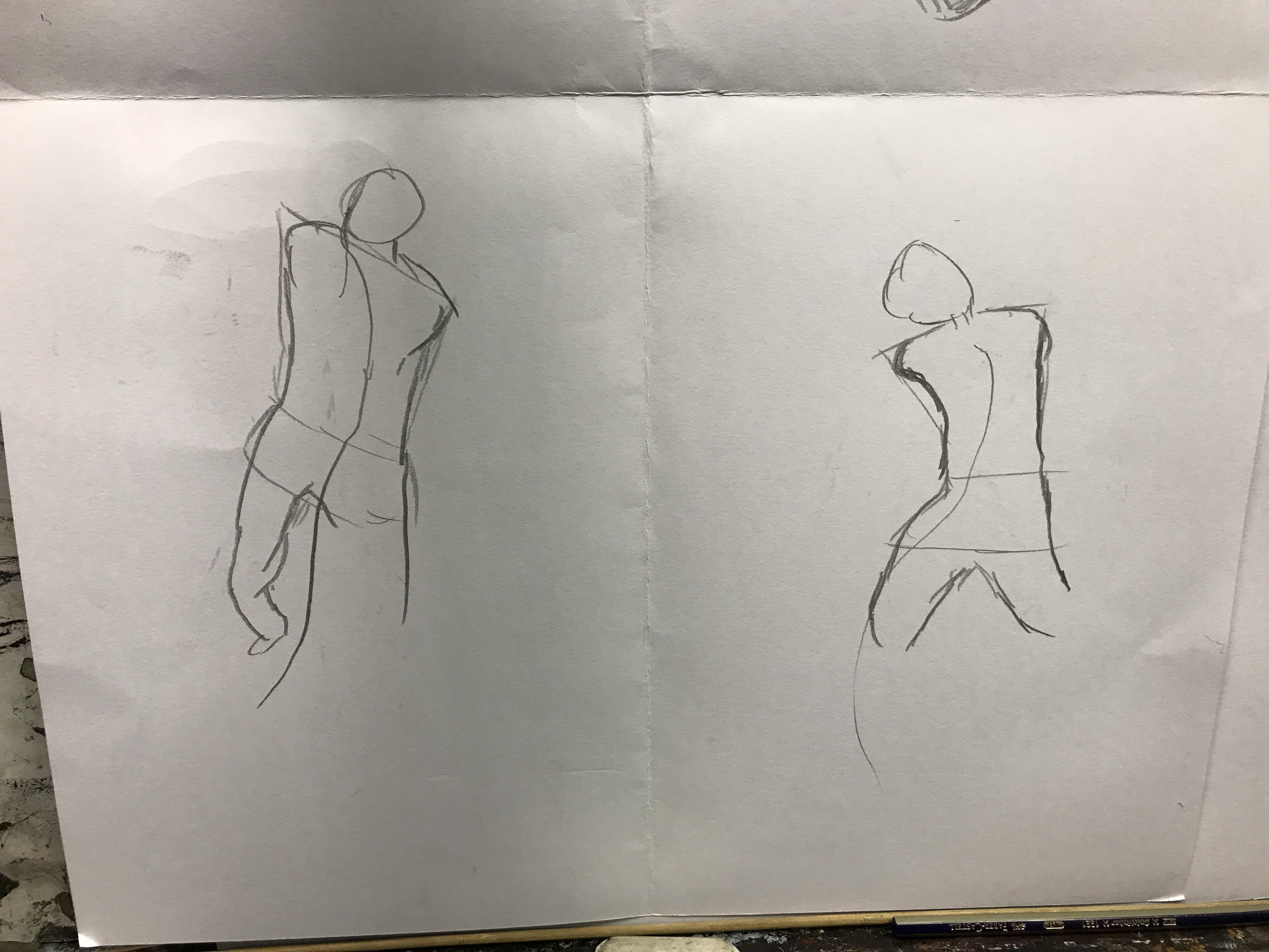 Drawing Lines Meaning : Week gesture drawing u ah lind s