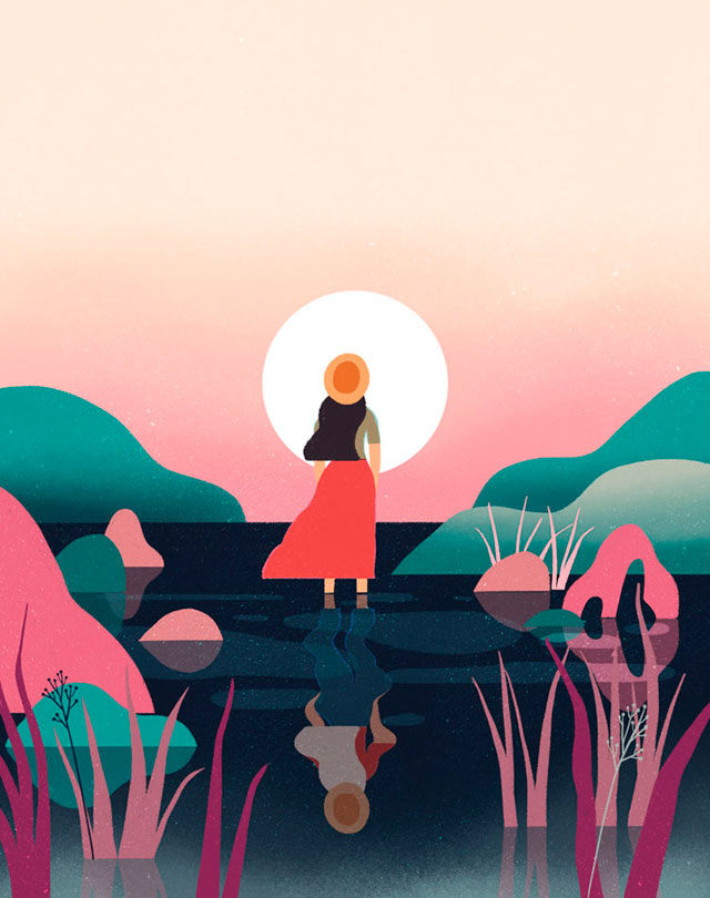 Editorial illustration research – Yay cake