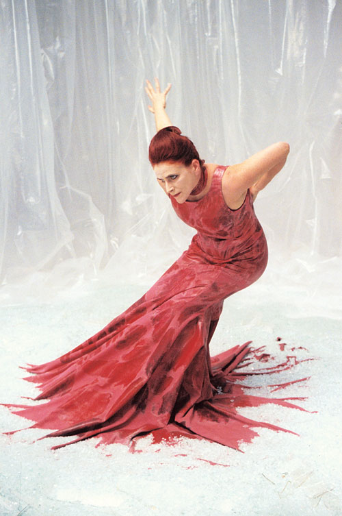 Liz Aggiss, the performer in Motion Control