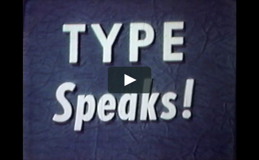Type Speaks! | Reflection