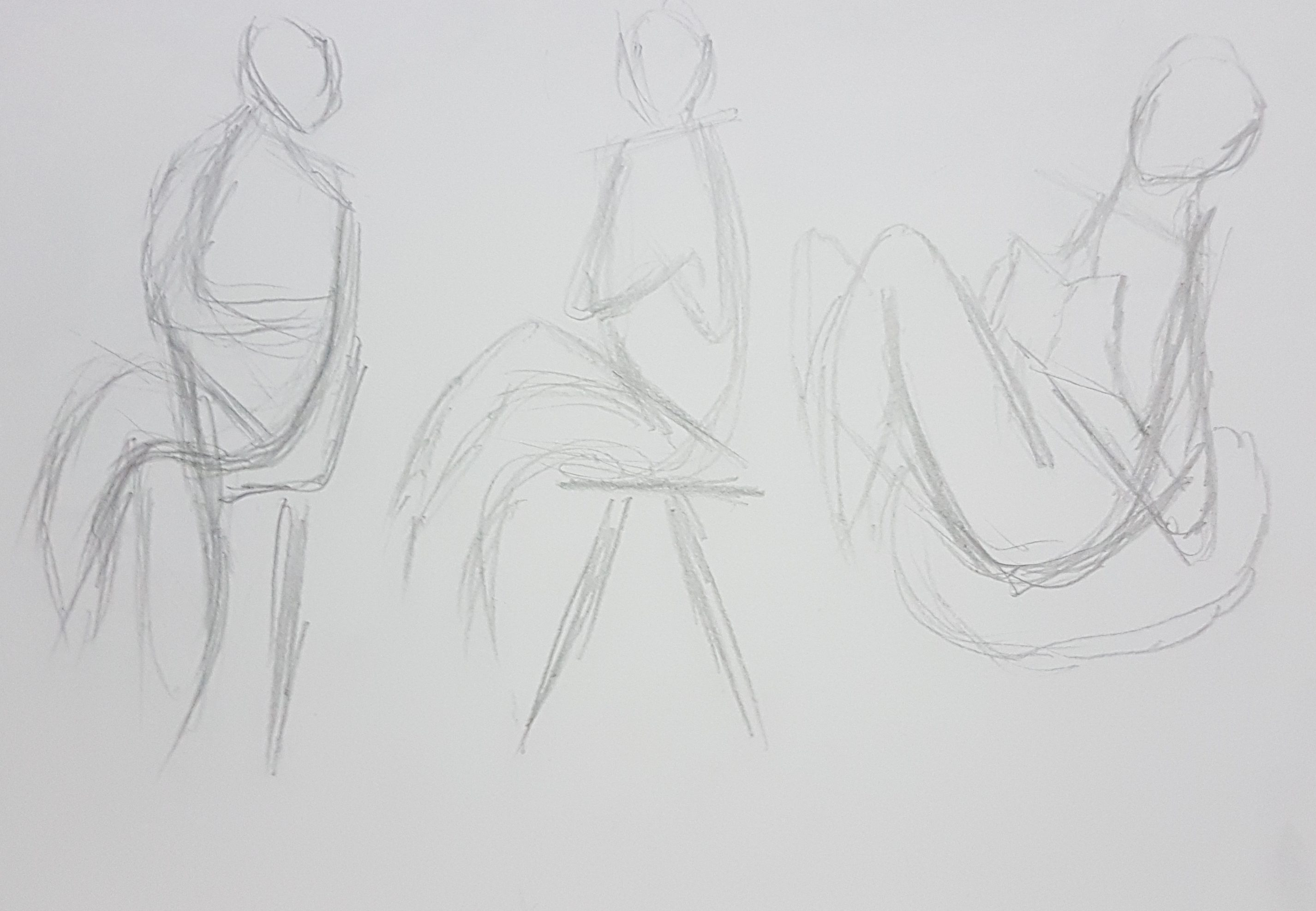 Line Art Figures : Week u figure drawing line of action i