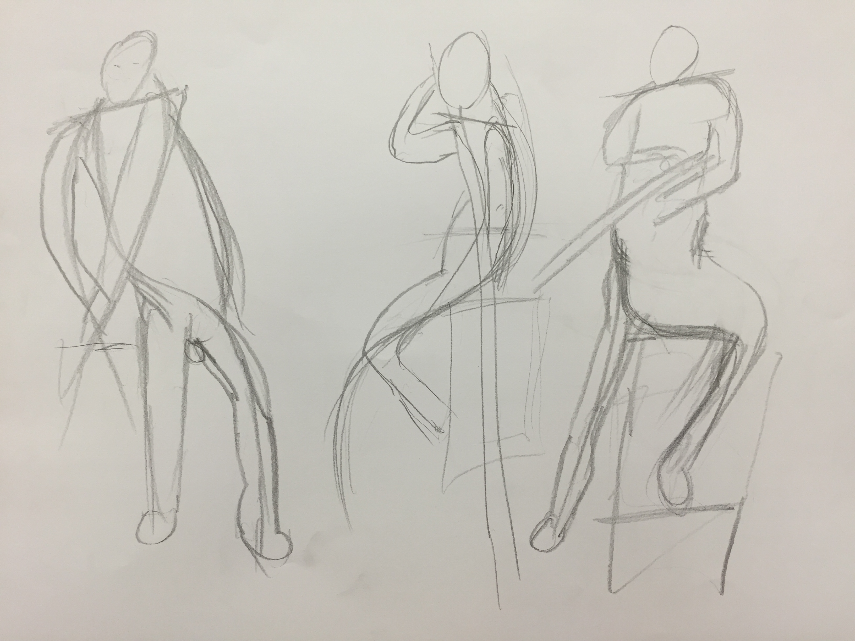 Figure Drawing 1 (Line of Action) – Lizhen