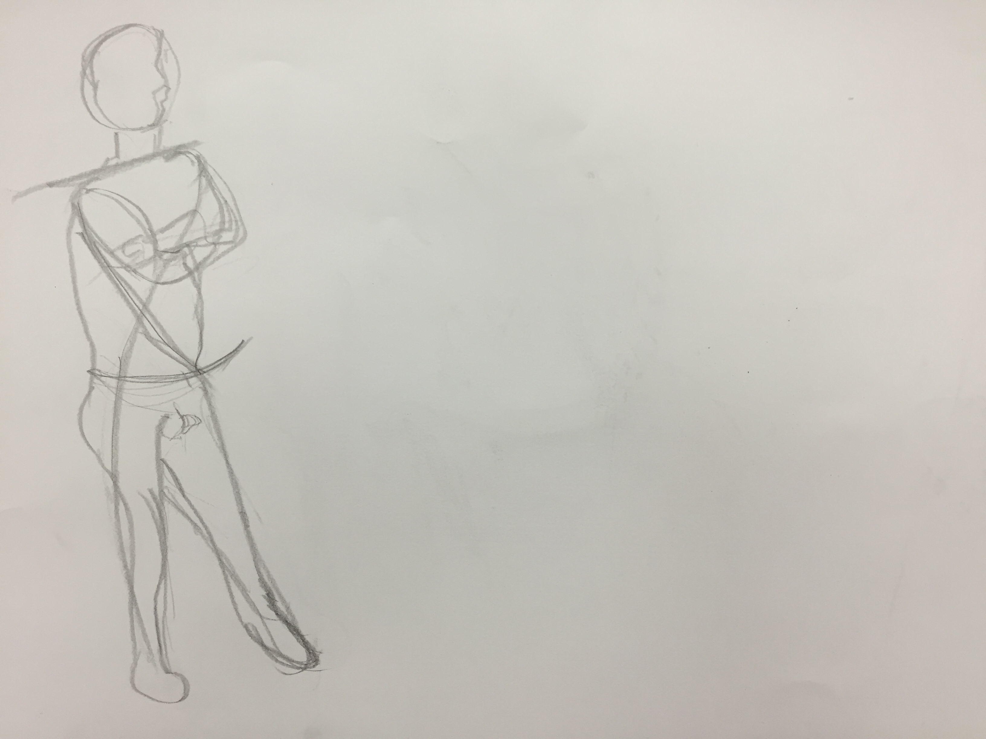 Week 5 – Figure Drawing 1 (Line of Action) – Lizhen