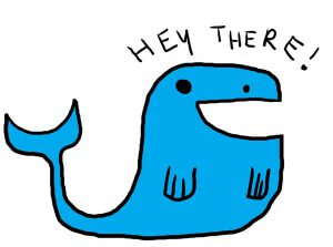 Whale-Says-Hey-There-Clipart