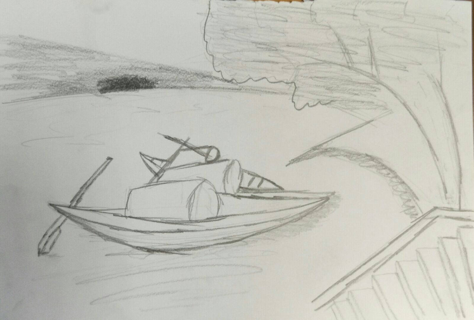 Relation to nature sketches amateur drawings by a beginner artist