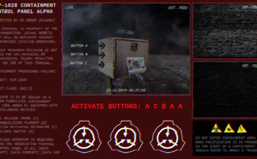 """Interactive Devices: """"SCP-1028"""" Final Project Submission"""