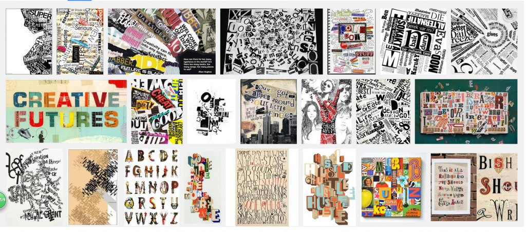 collage typography