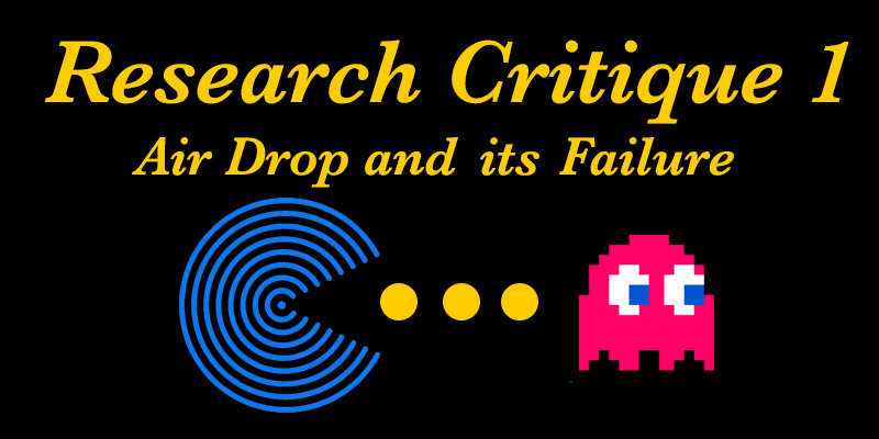Research Critique 1 // Airdrop