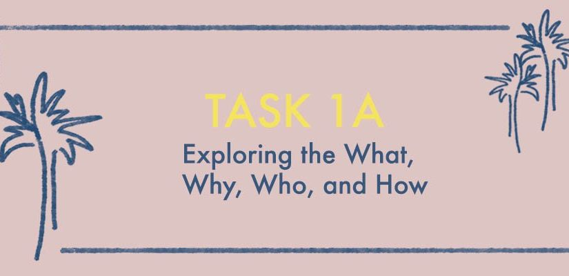 Task 1A: Exploring the What, Why, Who, and How