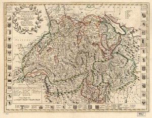 Switzerland-antique-vintage-map