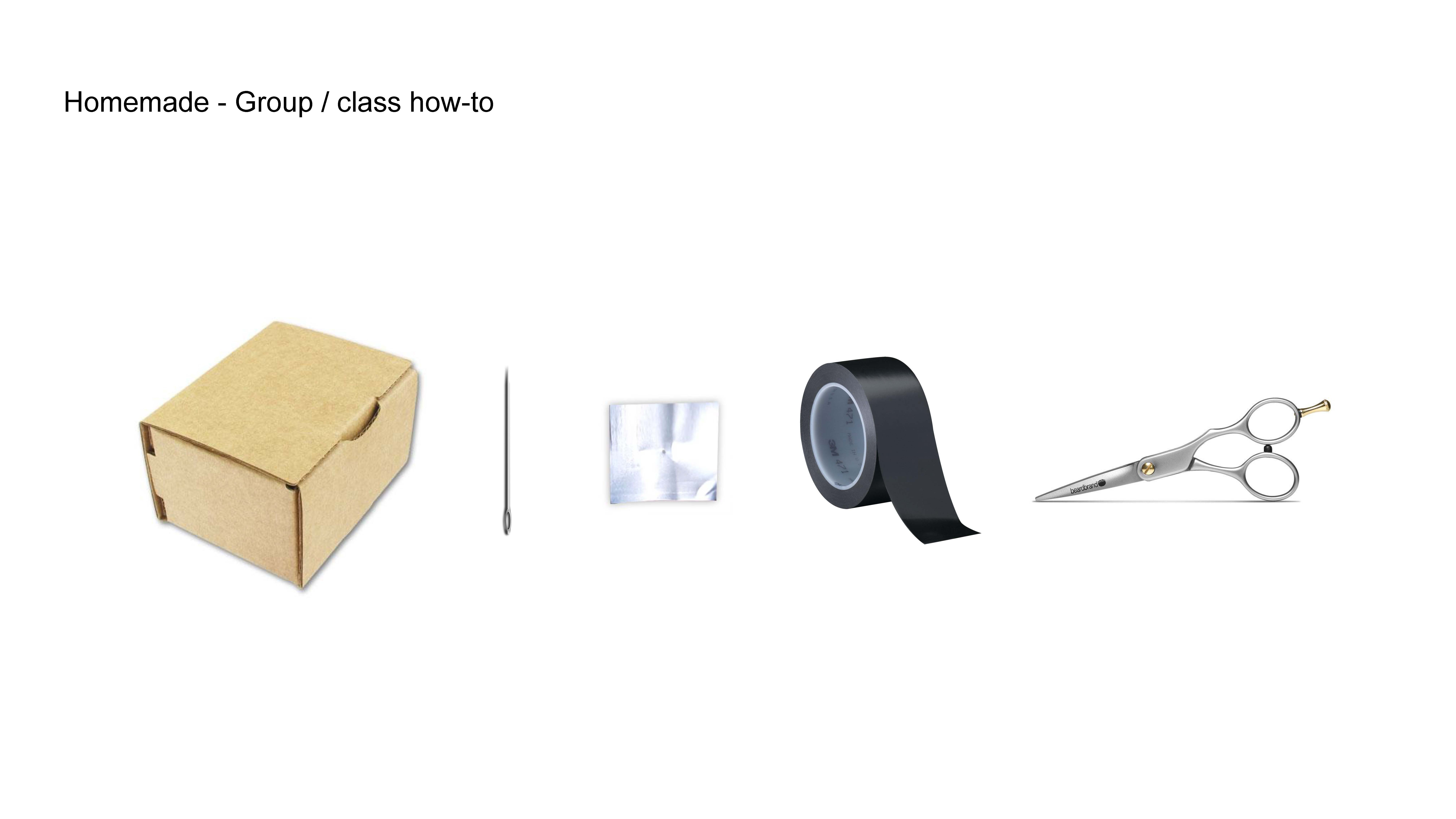 Materials For Making Your Own Pinhole Camera