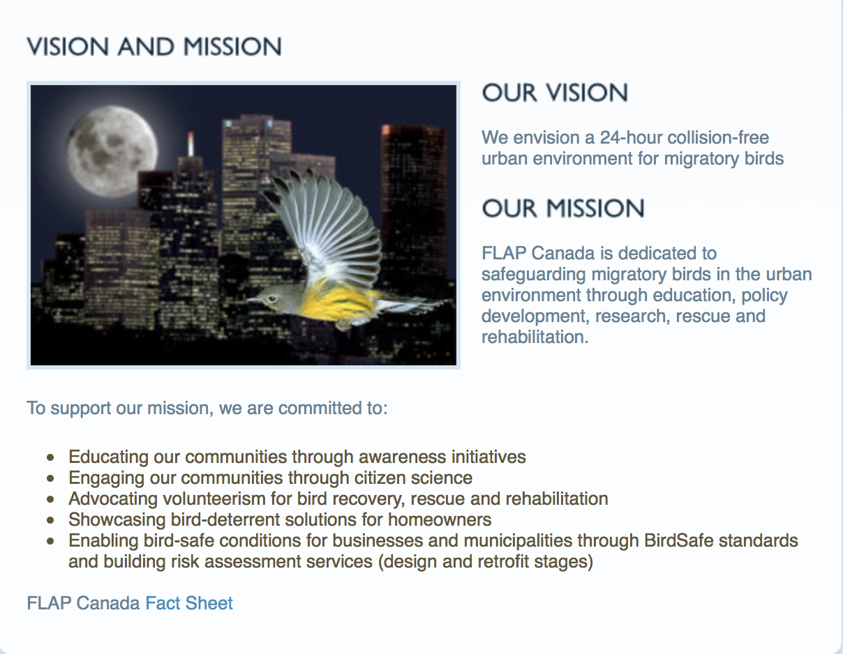 Research on Nocturnal Migration & Urban Illumination