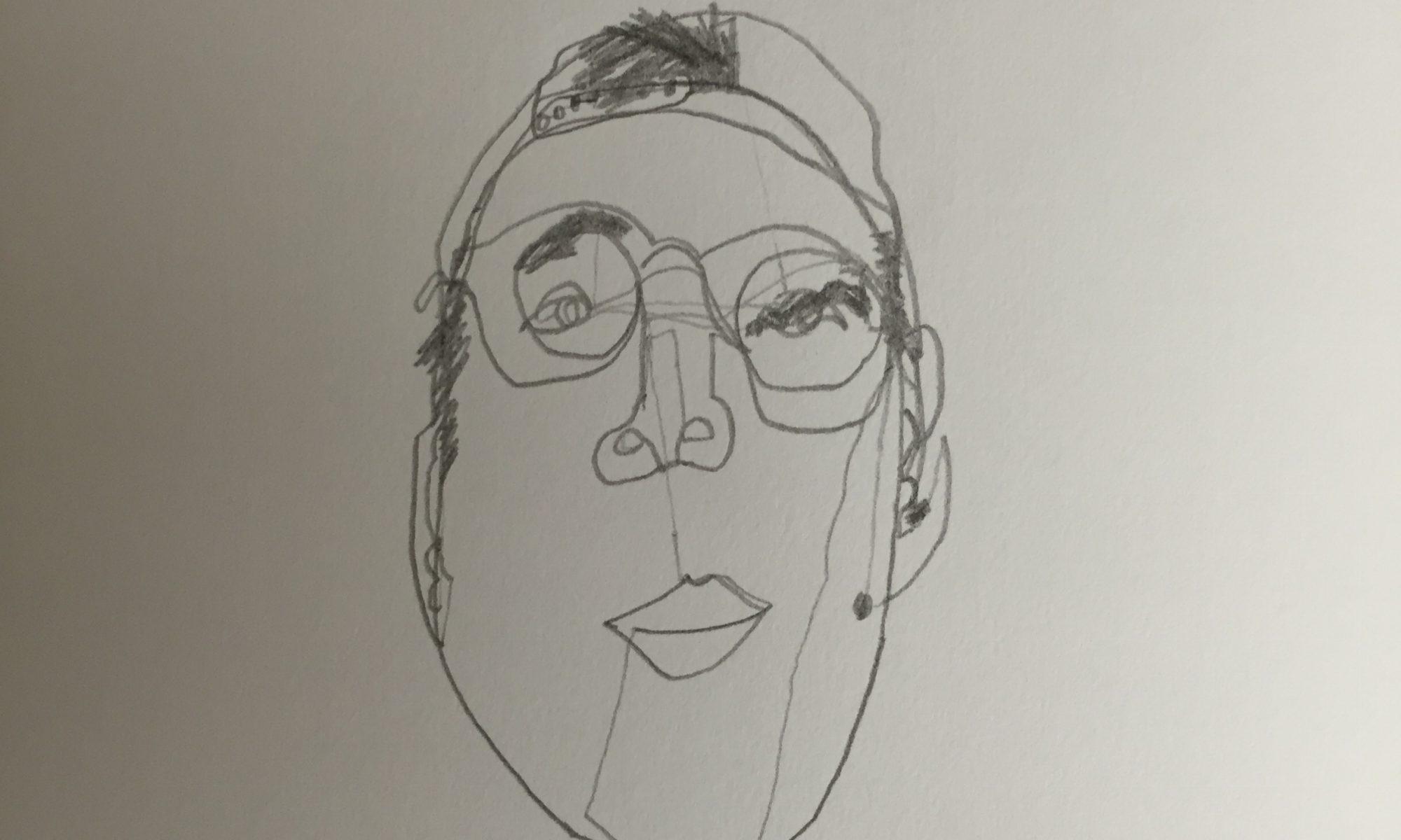 Contour Line Drawing Face : Week 1 u2013 continuous line blind contour drawing jone's artifacts
