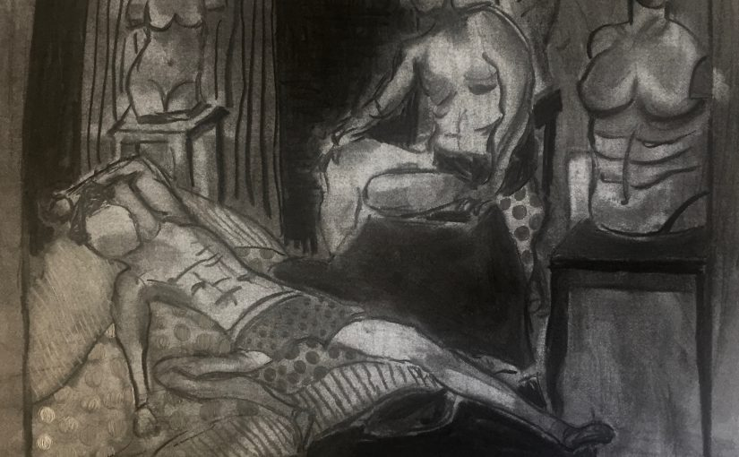 Life Drawing with two models