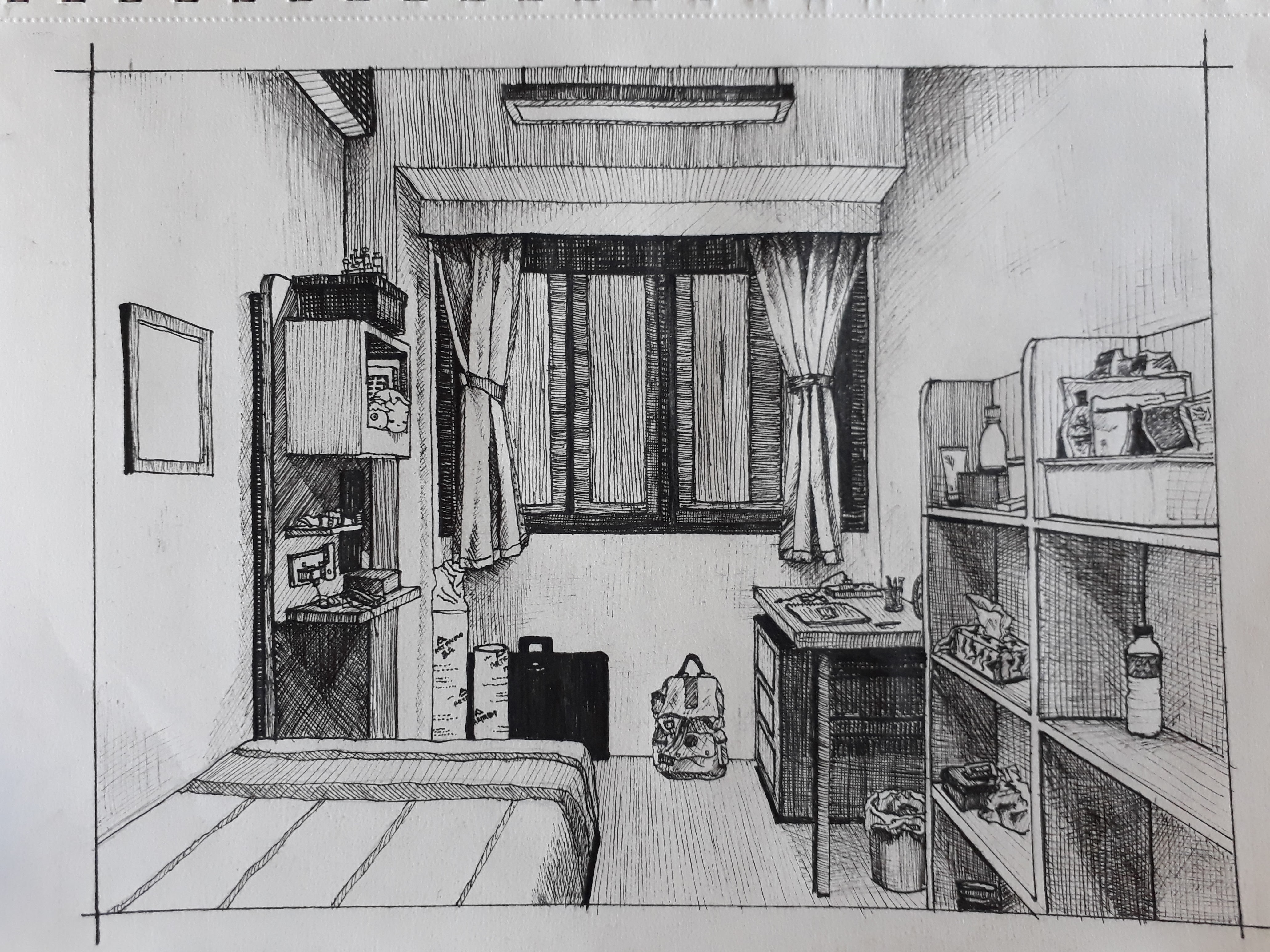 Groovy One Point Perspective Of My Room Yu Qing Download Free Architecture Designs Scobabritishbridgeorg