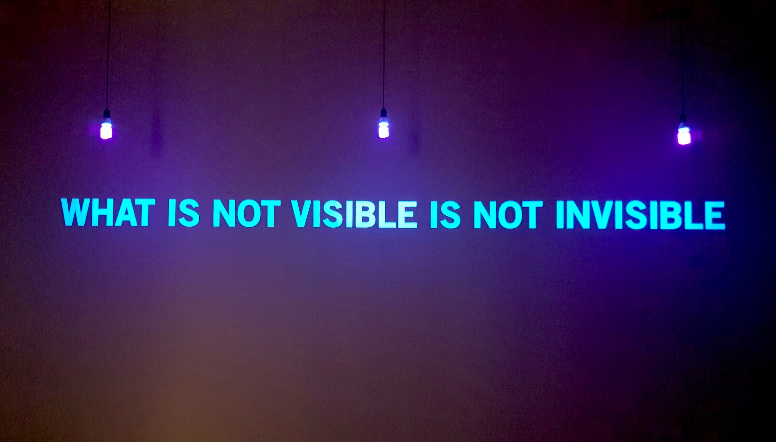 What is not visible is not invisible (2008), Julien Discrit