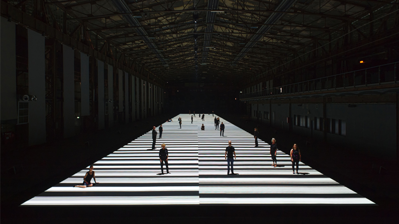 Test Pattern (100 metre) by Ryoji Ikeda
