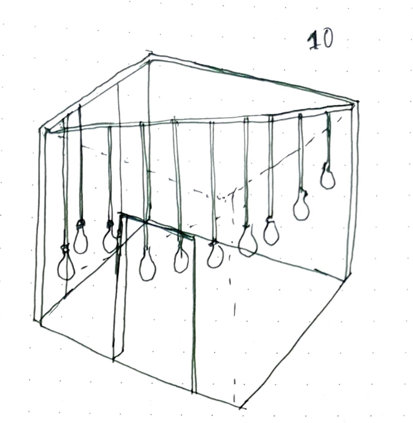 Sketch for 10 lightbulbs