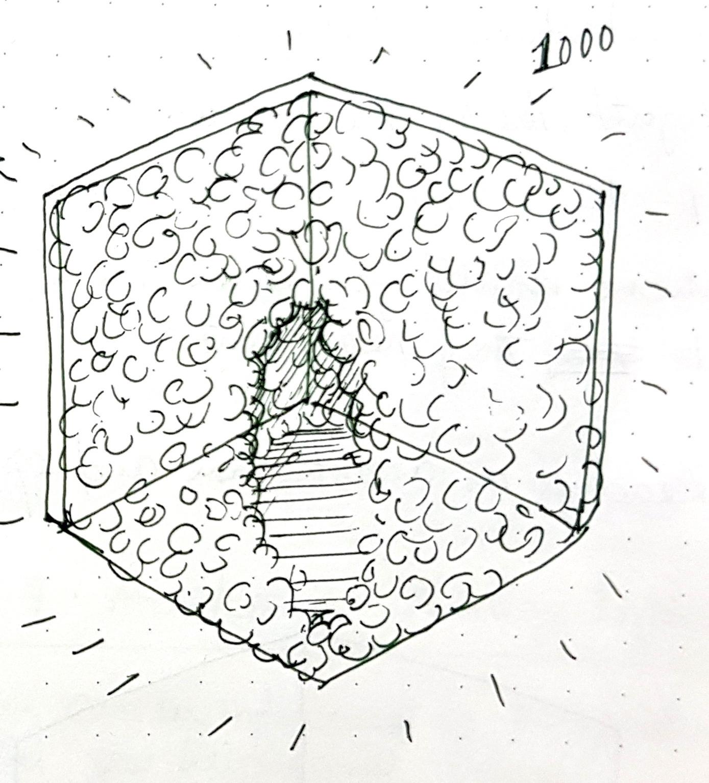 Sketch for 1000 lightbulbs