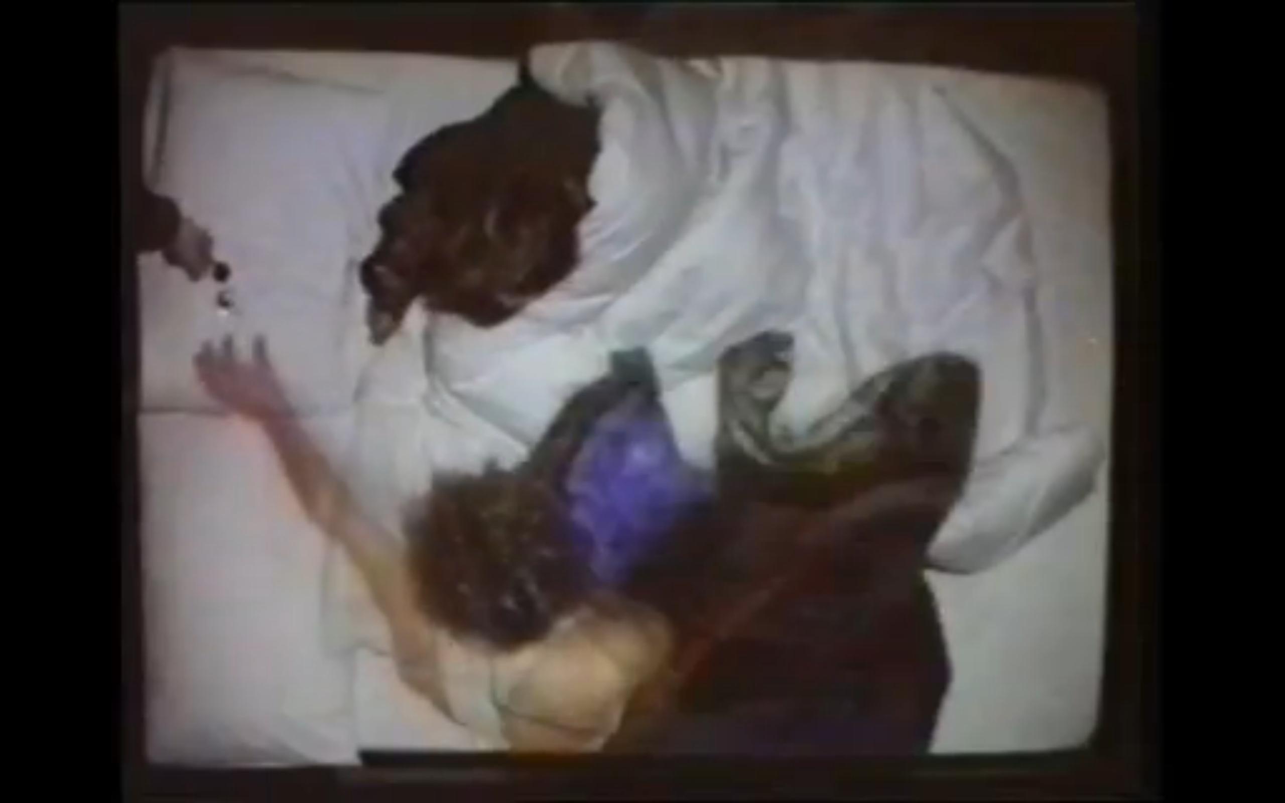 Still from 'Telematic Dreaming' (1993) documentation video, V2 October 1993