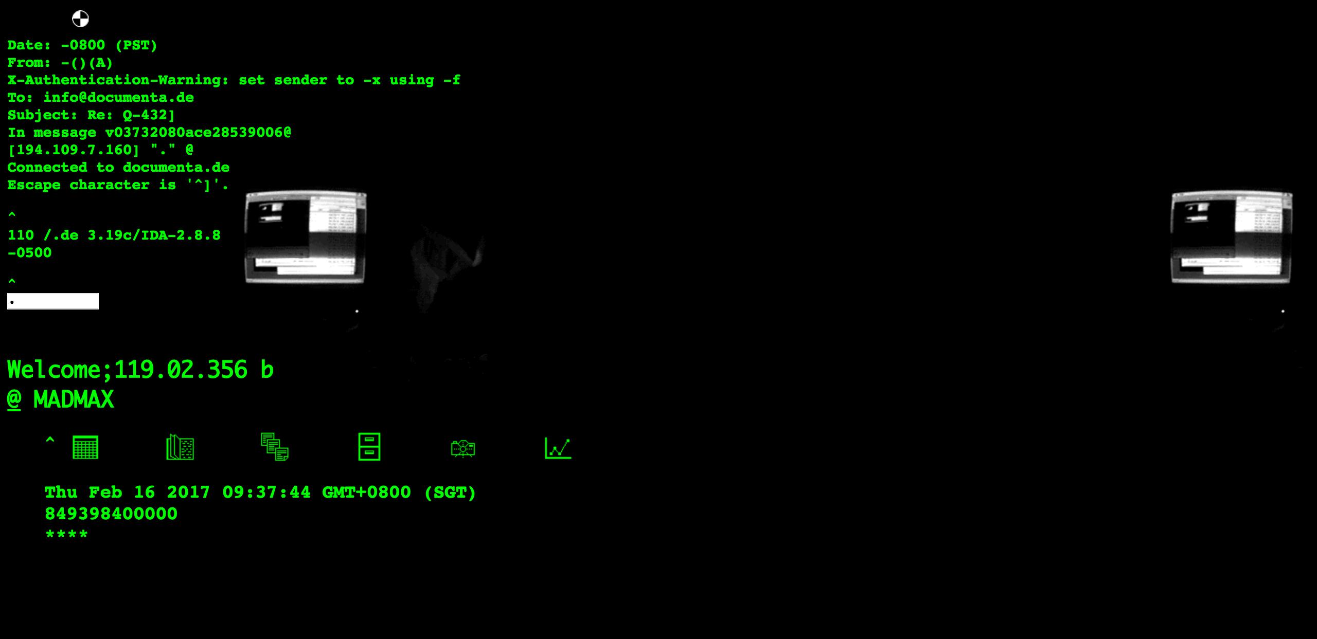Screenshot of 'Jodi.org' by Jodi (Joan Heemskerk and Dirk Paesmans)