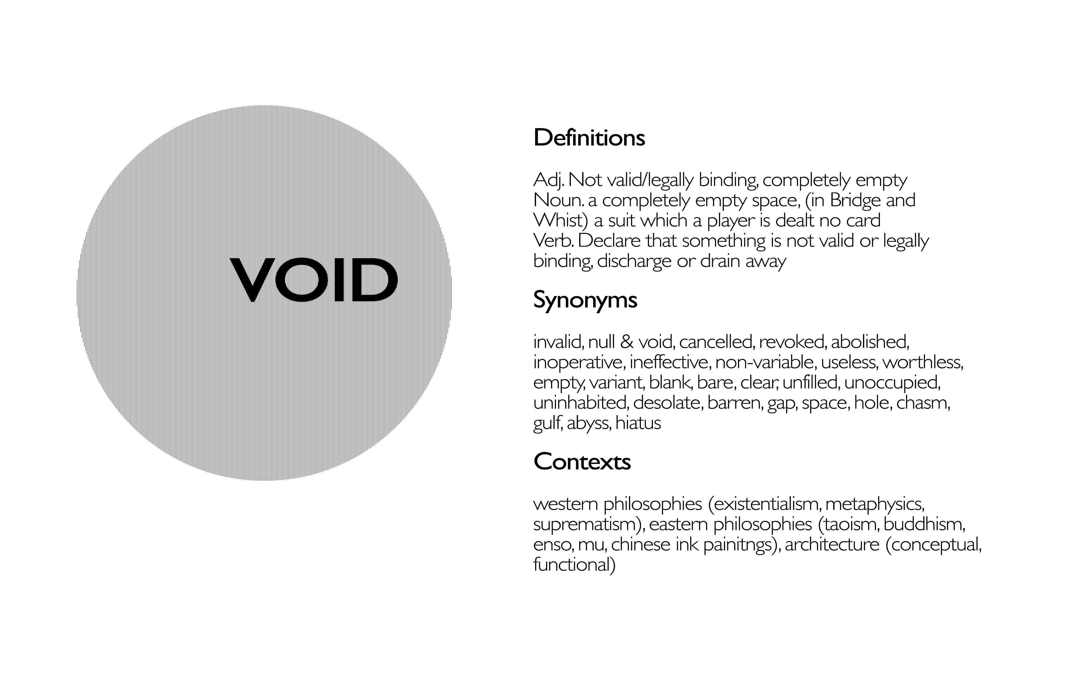 Synonyms of voids void decks for Void architecture definition