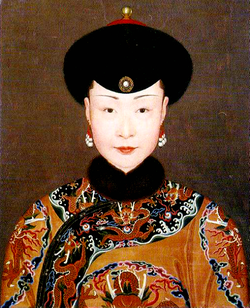 Empress Ulanara, the Step Empress of Emperor Qian-long Imperial Painter-The Palace Museum Mid 18h Century Source: https://zh.wikipedia.org/wiki/%E6%B8%85%E9%AB%98%E5%AE%97%E7%BB%A7%E7%9A%87%E5%90%8E last access 28th August